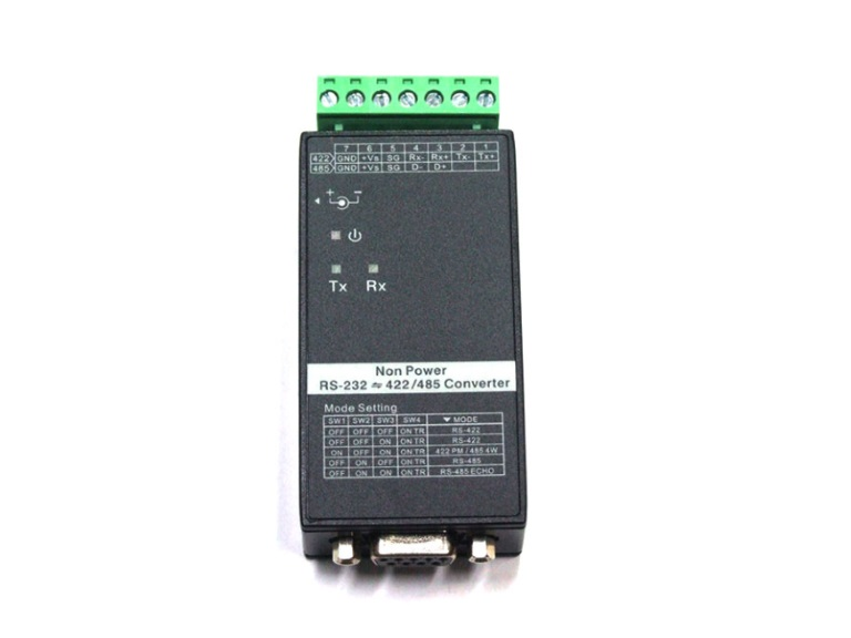 RS232-RS422/RS485 converter - 15KV/600W ESD protect incl. DIN railkit